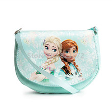 Snow Queen Elsa and Anna Princess Shoulder Messenger Bag Mini Crossbody Bags for Baby Girls Fashion Printing Coin Purse Wallet(China)