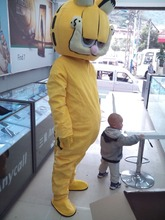 HOT-Custom Products Plush Cartoon Character Costume mascot Garfield Halloween Outfits Free Shipping