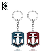 Drop-shipping World of Warships Keychain Metal Key Ring For Gift Chaveiro Key chain Jewelry