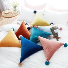 Buy Kids Cushion Children Triangle Shaped Pillow Hand Rests Bed Sofa Car Cushions Stuffed Plush Toy Doll Christmas Gift 50cm L30 for $17.39 in AliExpress store
