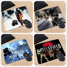 Hot Sale Game Pade Battlefield ii Rubber Soft Gaming Mouse Games Black Mouse Pad Gaming Speed Mice Play Mat