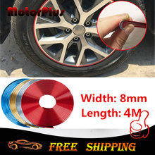 4M Motorcycle Car Rim Wheel Hub Protector Sticker Hedlight Edge Bumper Grille Cover Auto Decal For VW Mazda Suzuki Ford Hyundai(China)