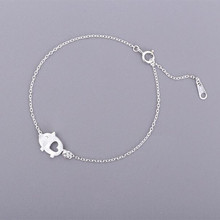 Exquisite Creative Handmade 925 Sterling Silver Jewelry Bracelets Drawing Small Cute Pig Lovely Female Hollow Bracelets SB71(China)
