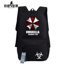 NEW fashion men backpack Biohazard Umbrella Resident Evil First Aid printing Anime bags Student School Schoolbag women Mochila