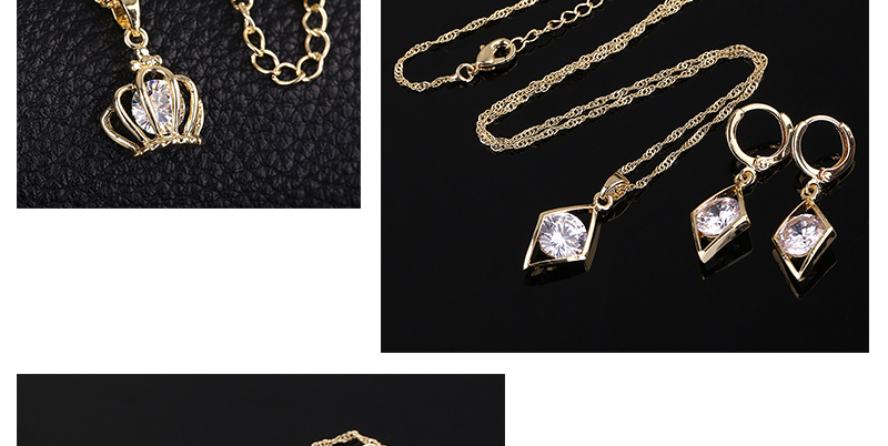 CWEEL Jewelry Sets Fashion African Jewelry Set Nigerian Wedding Zircon Jewerly Sets For Women Gold Color Ethiopian Jewelry (5)