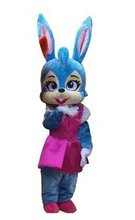 Hot Easter Mascot Cute Blue Rabbit Bugs Bunny Mascot Costume Easter Theme Cartoon Mascotte Character Costume FreeShipping SW1403