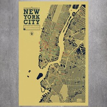 New York City Map Canvas Art Print Painting Poster Wall Pictures For Room Decoration Home Decor Silk Fabric No Frame