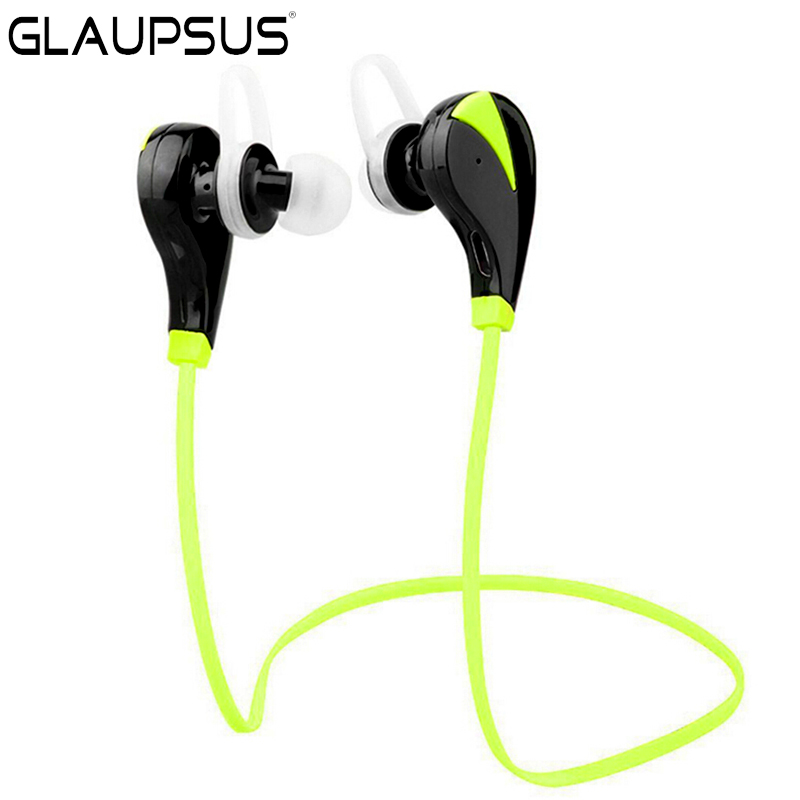 GLAUPSUS BS15 Bluetooth V4.0 Wireless Sports Earphones With Mic Running Stereo Bass Music handsfree For All Mobile Phone<br>