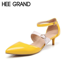 HEE GRAND Elegant High Heels 2017 Summer Pumps Sexy OL Gladiator Sandals Casual Pointed Toe Women Wedding Shoes Woman XWZ3399
