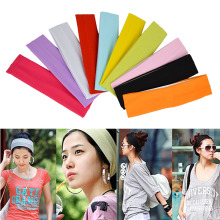Many Variety of Plain Sports Yoga Elastic Headband Hair Band Free Shipping