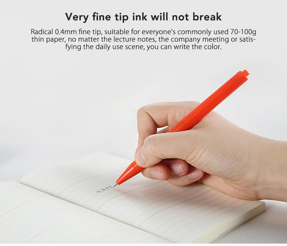12PcsLot Xiaomi Radical Gel Pen Ballpoint Ball Point for School Offical Sign Signing Roll Rolling Pen Black Ink Xiaom (4)