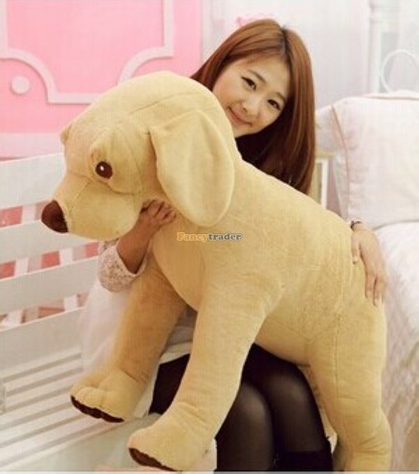 Fancytrader 39/ 100 The Biggest Plush Super Soft Stuffed Lovely Yellow Dog Toy, Nice Gift For Babies, Free ShippingFT50244<br><br>Aliexpress