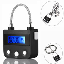 Buy New electronic lock handcuff ankle collar Bird Cage Chastity Device cock cage penis lock bondage restraint BDSM slave sex toy
