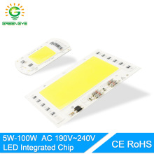 GreenEye AC 220V 5W~100W Integrated COB LED Lamp Chip 50W 30W 20W 10W Smart IC Driver High Lumens For DIY Floodlight Spotlight(China)