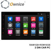 Ownice C300 Quad Core Universal 2 Din Car Multimedia Player Head Unit Android 4.4 1G + 16G Support DAB+ TPMS OBD USB DVR TV Box