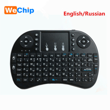 Wechip mini i8 Wireless Keyboard 2.4 GHz Russian Letters Multi-Media Air Mouse Remote Control Touchpad For Android TV Box(China)