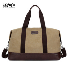 2017 Men Travel Bags Large Capacity Duffle Bag Shoulder Canvas Travel Tote Luggage Hand Bag(China)