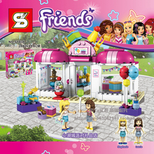 Heartlake Party Shop 202pcs Friends Set Emma Stephanie Mia Olivia Andrea Building Block Girls Toy Compatible With Lego 41132