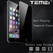 Protect Privacy Premium 9H Anti-Peeping Tempered Glass Screen Protector Skin Guard for iPhone 5S 6 6S 7 Plus w/ Safe Packing