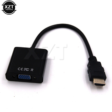 Hot Sale HDMI Male to VGA RGB Female HDMI to VGA Video Converter adapter HDMI Cable 1080P HDTV Monitor for PC TV BOX