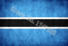 Botswana Antique do the old Flag Retro Flag 3X5FT 150X90CM Custome Banner brass metal holes