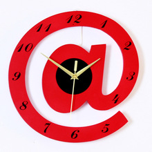 2017 Hot New Quartz Clocks Fashion Watches Brief Big Wall Clock Individuality Letter Shape Clock for Children Room 30x30cm