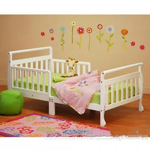 Solid wood baby cot children's bed(China)