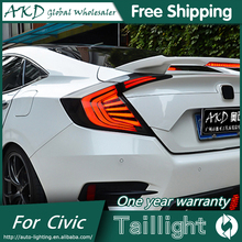 AKD Car Styling tail lights for Honda Civic 2016 taillights LED Tail Lamp rear trunk lamp cover drl+signal+brake+reverse(China)
