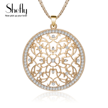 2018 CZ Crystal Charm Flower Necklace Kolye Women Vintage Multi Chain Silver Gold Color Maxi Pendants & Necklaces New Year Gifts(China)