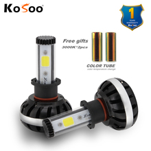 KOSOO H3 lonowo Chips LED Headlight Kits Car Bulbs Single Beam 8600LM/pair 6500K Auto Led Head Lamp Fog Lights DIY color lights