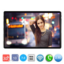 New 10 inch tablet pc 2.5D Glass Screen Android 7.0 OS Octa Core 4GB RAM 64GB ROM 3G 4G FDD LTE 1280*800 IPS Tablets+ Gift(China)