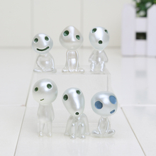 6Pcs/set Princess Mononoke luminous tree elves Spirit Kodama gardening potted decoration Micro Landscape accessories