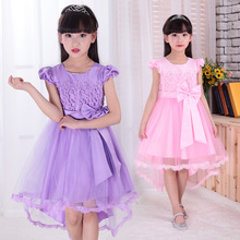 High-Grade Brand Sweet Beauty Kids Wedding Dresses Children's Day Lace Up Dress Vestido De Dama De Honra Infantil