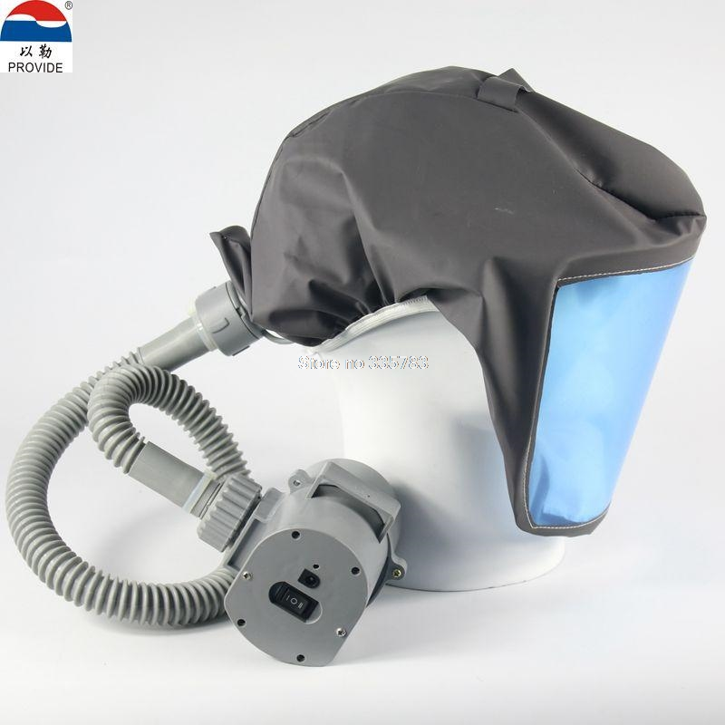 PROVIDE Electric blower Air supply respirator mask chargeable it can move Hooded Anti-virus dust mask full face respirator(China (Mainland))