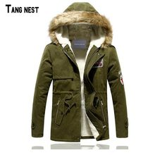 TANGNEST Male Coat Hooded 2017 Men's Warm Korean Style Padded Jacket Male Hooded Casual Winter&Autumn Coats M-3XL MWM495