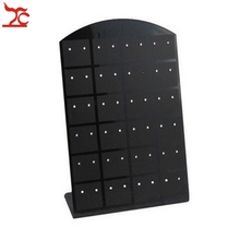 100Pcs Mini Black 36Pairs Earring Display Rack L Design Plastic Earring Stud Organizer Storage Display  Holder Stand Low