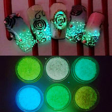 Charm Luminous Sand Glow in the Dark Creative Nail Art Stickers DIY Manicure CN