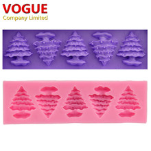 New DIY Christmas Tree Cake Chocolate 3d Silicone Moulds for Jelly Jello Ice Sugar Fondant Soap Molds Cooking Tools N1868 Xmas