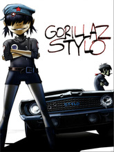 Gorillaz Stylo Muscle Car Music Art Huge Print Poster TXHOME D7062