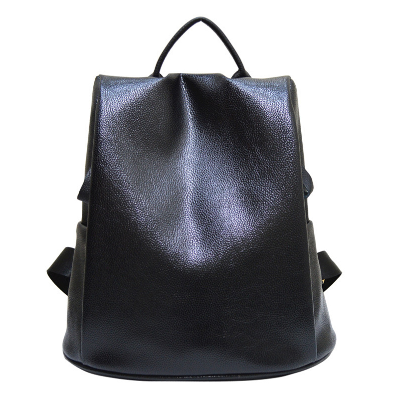 2017  new design of PU woman flip leather bag 11-14.1 inch school tablet package  leisure fashion backpack black traveling bag  <br><br>Aliexpress