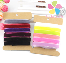 "6y/lot 3/8"" Velvet ribbon for hair bow Wedding Party Decoration Craft 040003006"
