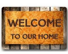 Custom Machine-Washable Welcome To My Home Door Mat Indoor/Outdoor Decor 40x60cm Rug Doormat Room Decoration