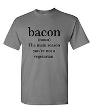 2016 Latest T Shirt Fashion Bacon The Reason You Aren't Vegetarian Short Comfort soft Crew Neck Shirt For Men