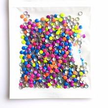 1000pcs/Packs 3mm DIY Round Shape Neon 5 Colors 3d Tips Nail Art Studs Decorations Cellphone Accessory TRNC219