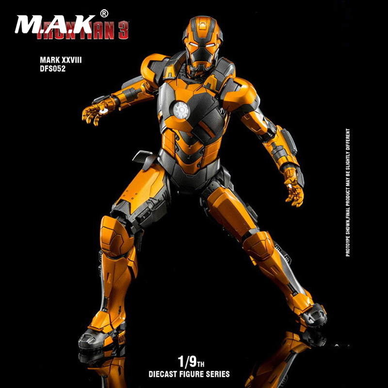 King Arts DFS009 1//9 Iron Man MK43 Alloy Diecast Collectible Action Figure Set
