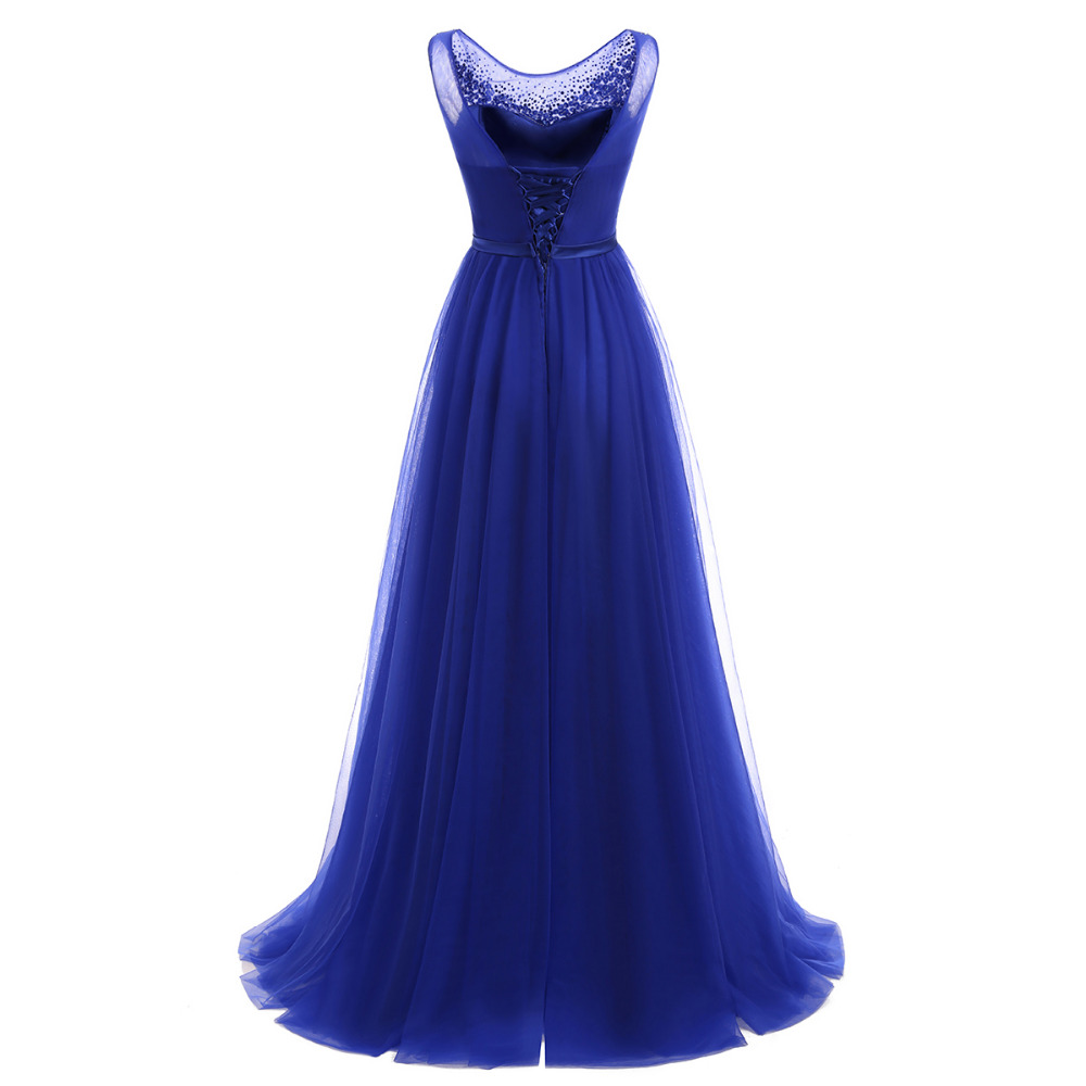 Evening Dress 2018 Floor Length Tulle Party Gowns Long Formal Prom Dresses 21