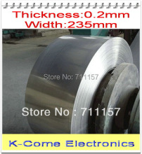 0.2mm Thickness 235mm Width Stainless Steel Sheet Plate Leaf Spring Stainless Steel Foil The Thin Tape Free Shipping