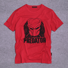 Movie Predator Logo Adult Men's T-Shirt Fan Clothing Shirt 100% Cotton Short Sleeve Tshirt(China)