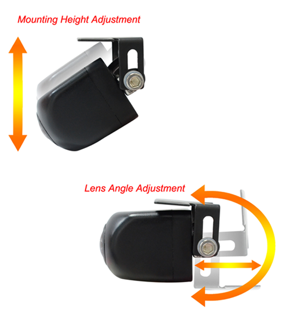 PARKVISION 180 -190 Degrees Wide Angle Viewing Front Backup Reverse Rear View Vehicle Car Camera Multi-view Image Parking Line 8