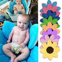 New Baby Bathtub Foldable New Born Baby Supplies Flowers Shape Bath Soft Mat Blanket Lovely Bathtub for baby bath protection(China)